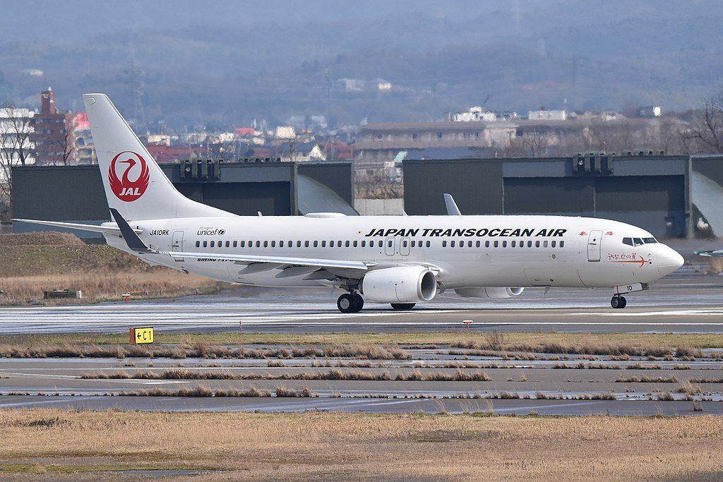 Japan Transocean Air JTA JA10RK Boeing 737 8Q3WL at Komatsu Airport