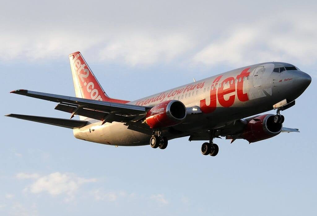 Jet2 Belfast G CELE Boeing 737 33A at Málaga Airport