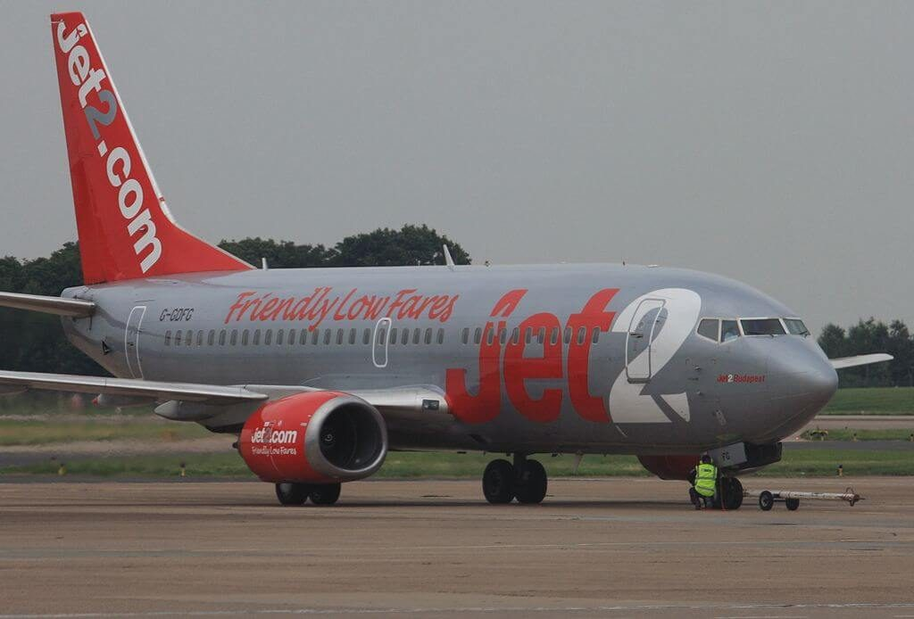Jet2 Budapest G GDFG Boeing 737 36QWL at East Midlands Airport
