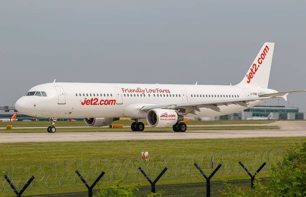 Jet2 G POWN Airbus A321 211 at Manchester Airport
