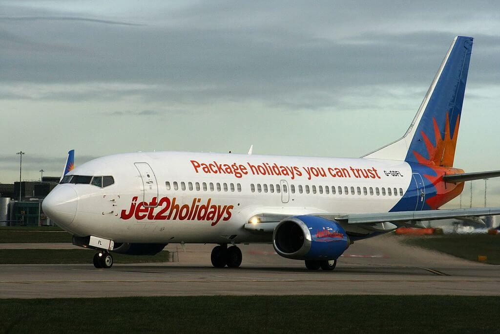 Jet2holidays G GDFL Boeing 737 36NWL at Manchester Airport