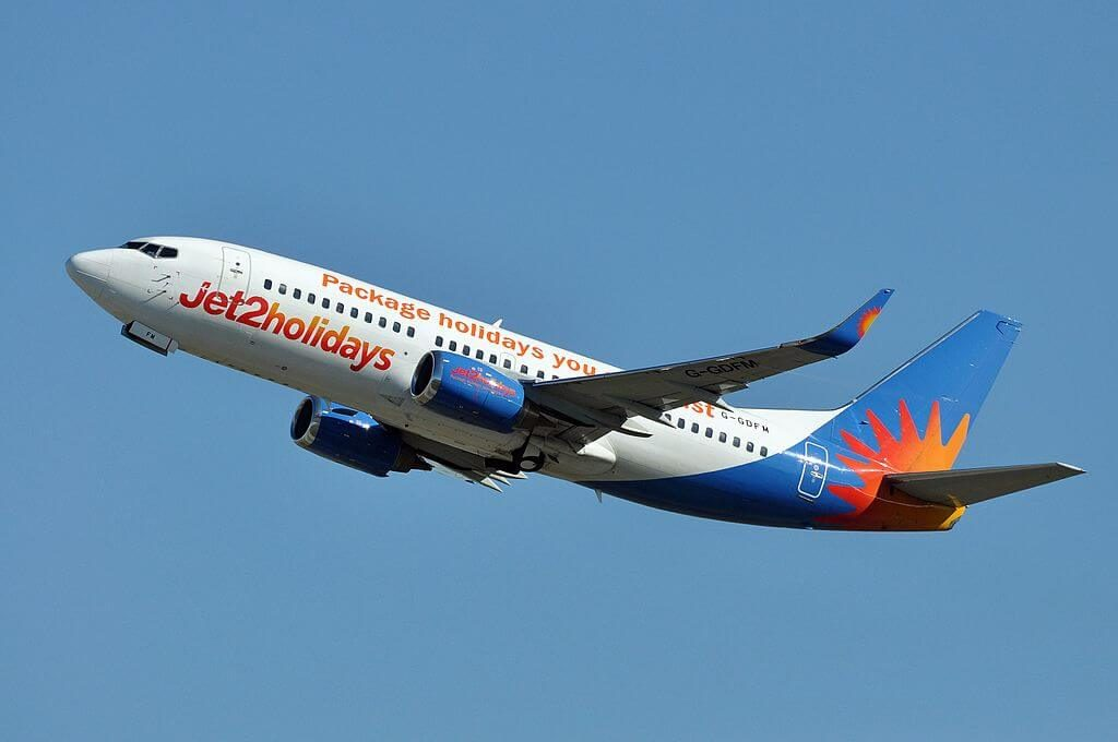Jet2holidays G GDFM Boeing 737 36NWL at Fiumicino Airport