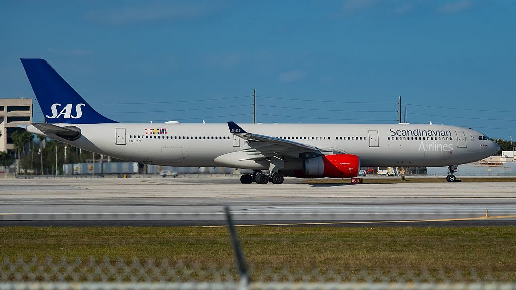 LN RKM Airbus A330 343 Eystein Viking SAS Scandinavian Airlines at Miami International Airport