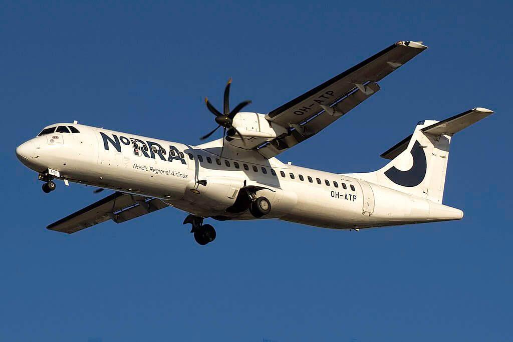 NORRA Nordic Regional Airlines Finnair ATR 72 500 OH ATP at Visby Airport