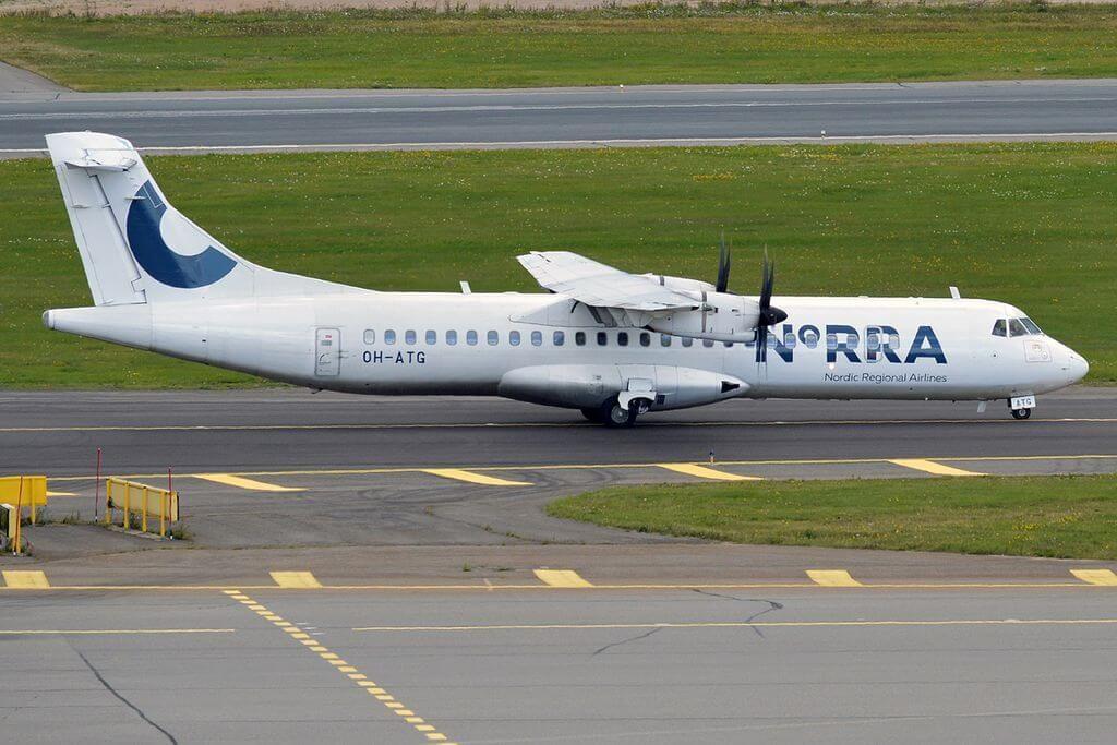 Nordic Regional Airlines NORRA Finnair OH ATG ATR 72 500 at Helsinki Vantaa Airport