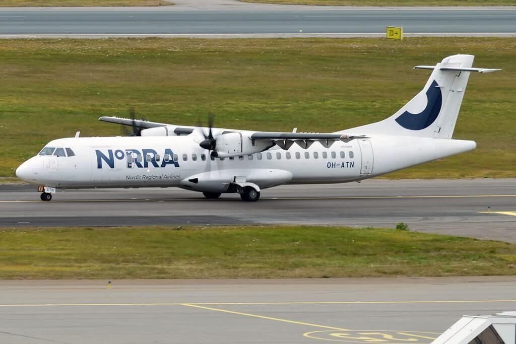 Nordic Regional Airlines NORRA Finnair OH ATN ATR 72 500 at Helsinki Vantaa Airport