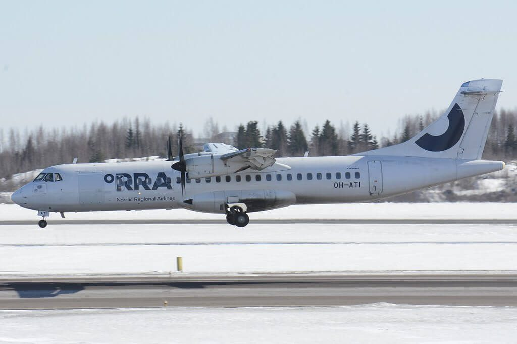 OH ATI Nordic Regional Airlines NORRA Finnair ATR 72 500 at Helsinki Vantaa