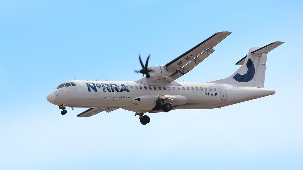 OH ATM ATR 72 500 NORRA Nordic Regional Airlines Finnair at Helsinki Vantaa Airport