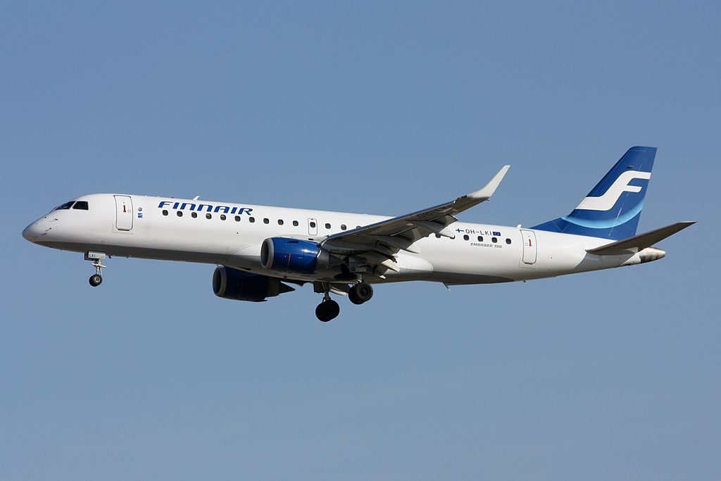 OH LKI Embraer 190 of Finnair at Frankfurt Airport