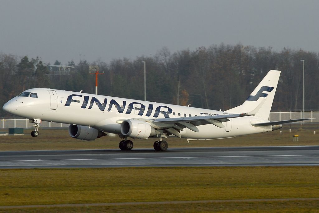 OH LKM Embraer ERJ 190 100LR 190LR Finnair at Frankfurt Airport