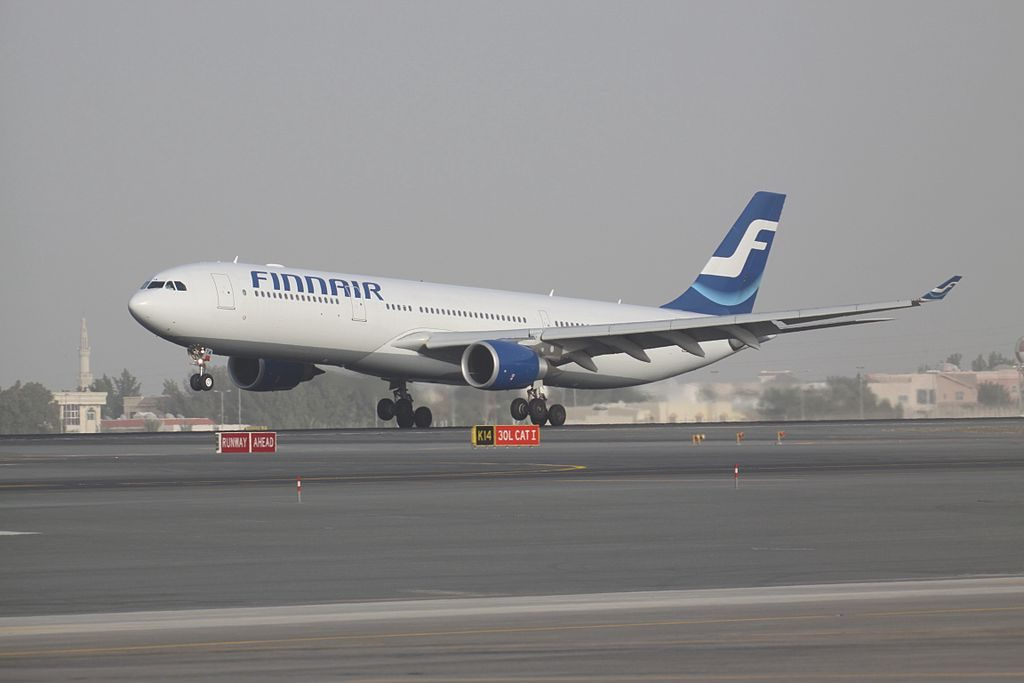 OH LTM Airbus A330 302 Finnair at Dubai International Airport