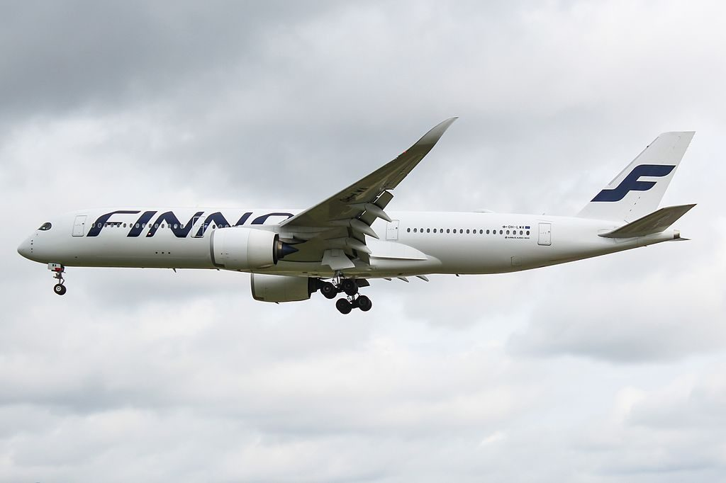 OH LWA Airbus A350 941 Finnair at London Heathrow Airport