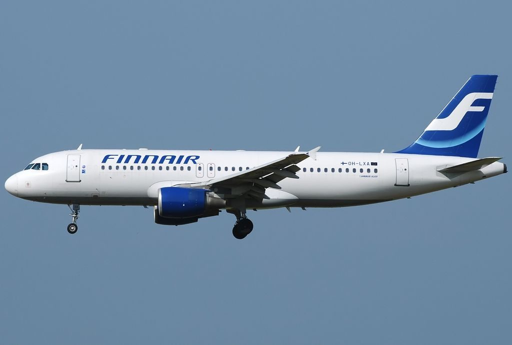 OH LXA Airbus A320 214 Finnair at Fiumicino Airport