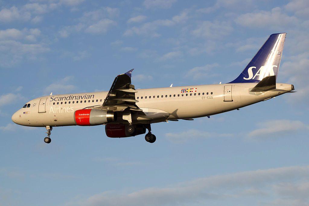 OY KAN Airbus A320 232 SAS Scandinavian Airlines Refil Viking at Copenhagen Airport