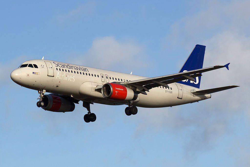 OY KAR Airbus A320 232 SAS Scandinavian Airlines Vermund Viking at Copenhagen Airport