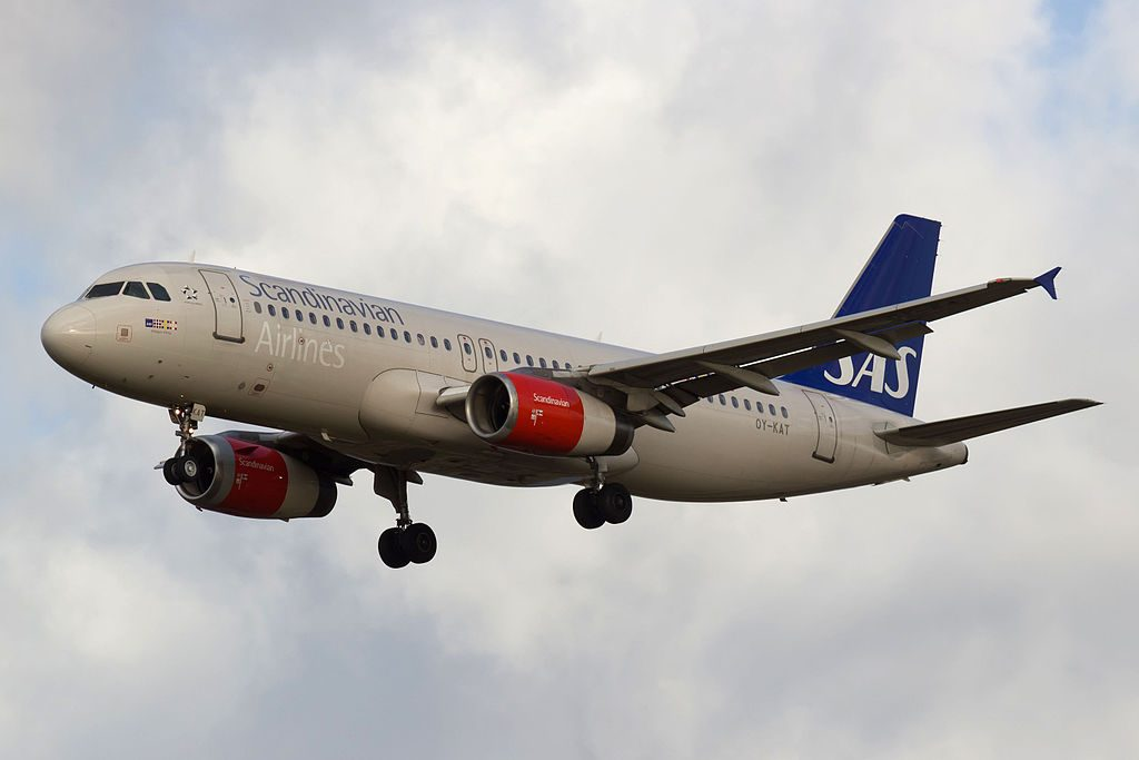 OY KAT Airbus A320 232 Hildegun Viking of SAS Scandinavian Airlines at Copenhagen Airport