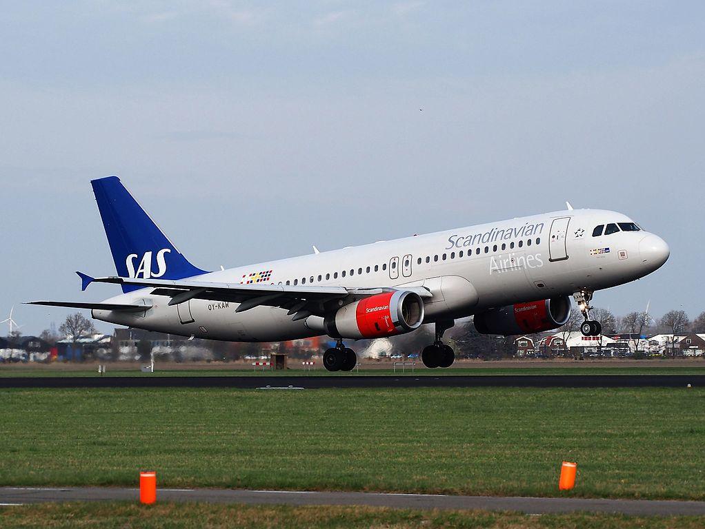 OY KAW SAS Scandinavian Airlines Airbus A320 232 Tyke Viking at Schiphol