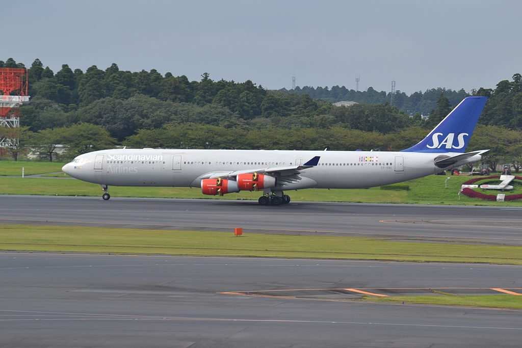 OY KBC Airbus A340 313 Scandinavian Airlines SAS Freydis Viking at Narita International Airport