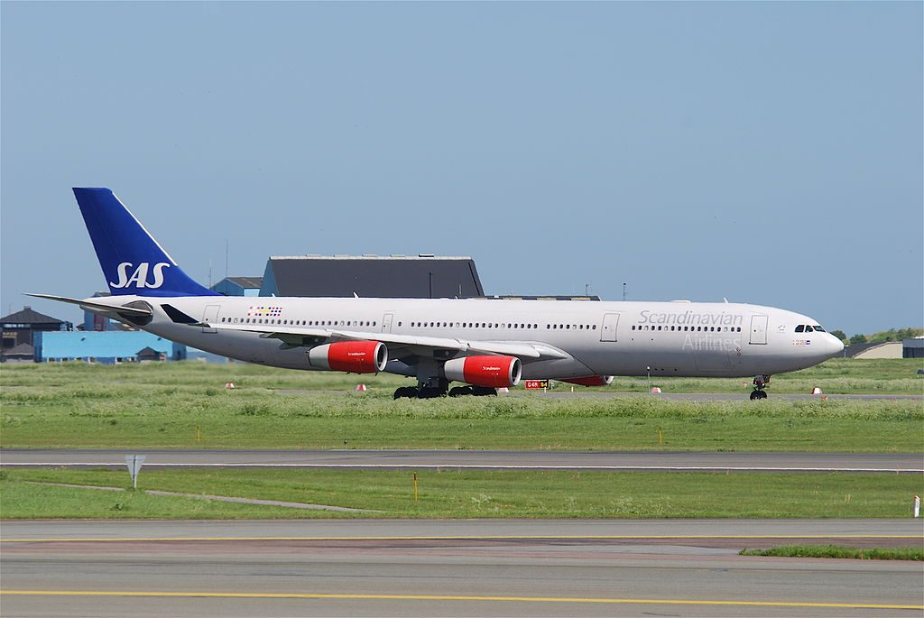OY KBD Airbus A340 313 Toste Viking SAS Scandinavian Airlines at Copenhagen Airport