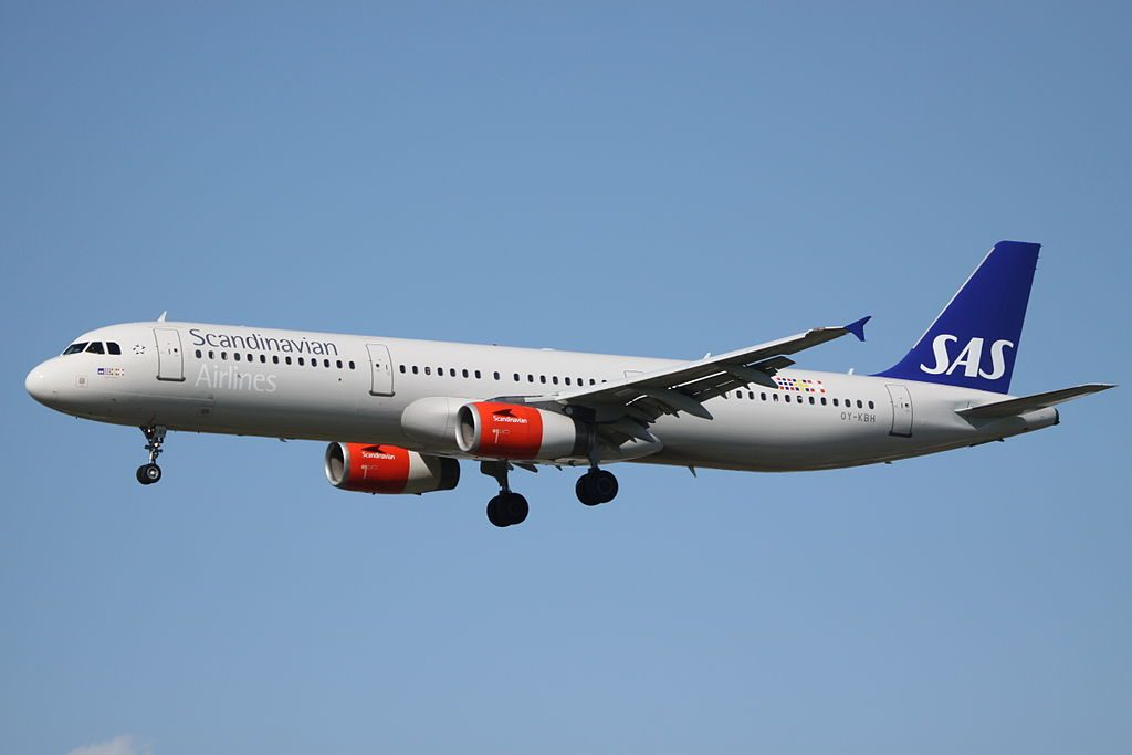 OY KBH Airbus A321 232 Sulke Viking SAS Scandinavian Airlines at London Heathrow Airport