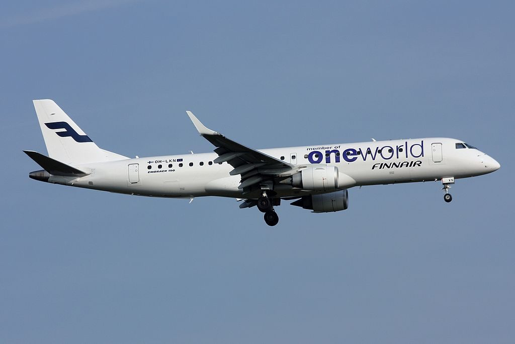 Oneworld Finnair Embraer 190LR ERJ 190 100LR OH LKN at Frankfurt Airport