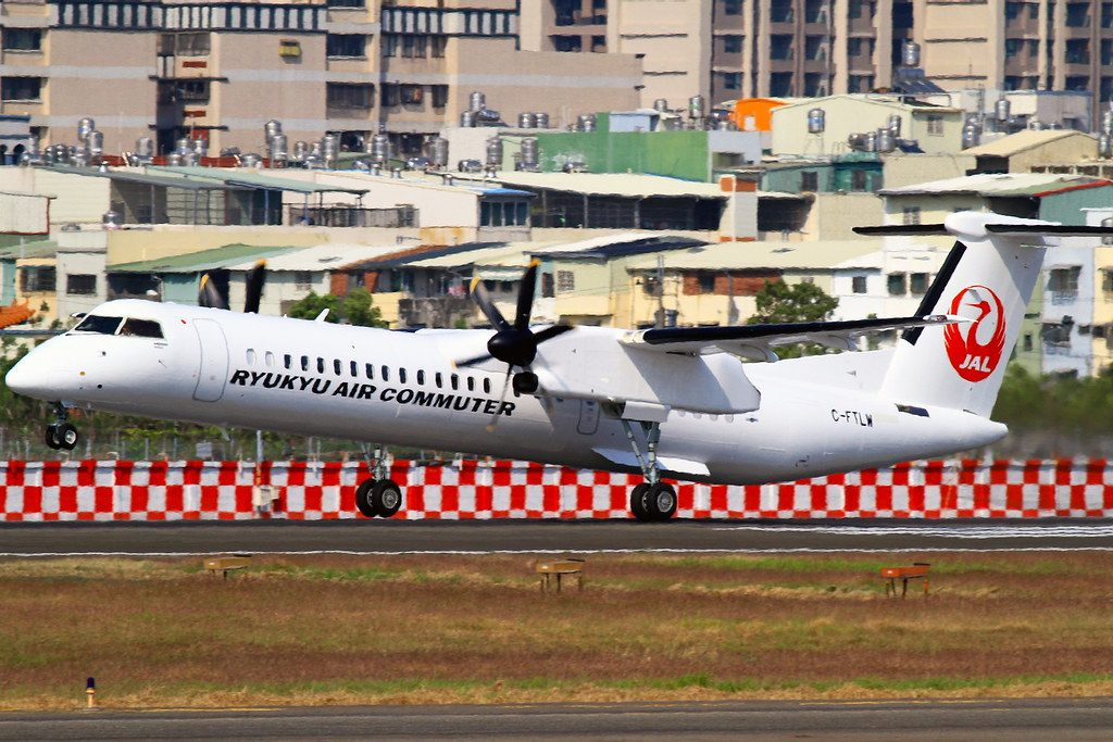 Ryukyu Air Commuter Bombardier DHC 8 402 Q400 Combi C FTLW JA84RC Kaohsiung International