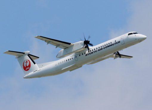 Ryukyu Air Commuter De Havilland Canada DHC 8 402Q Dash 8 Combi JA83RC at Naha Airport Okinawa