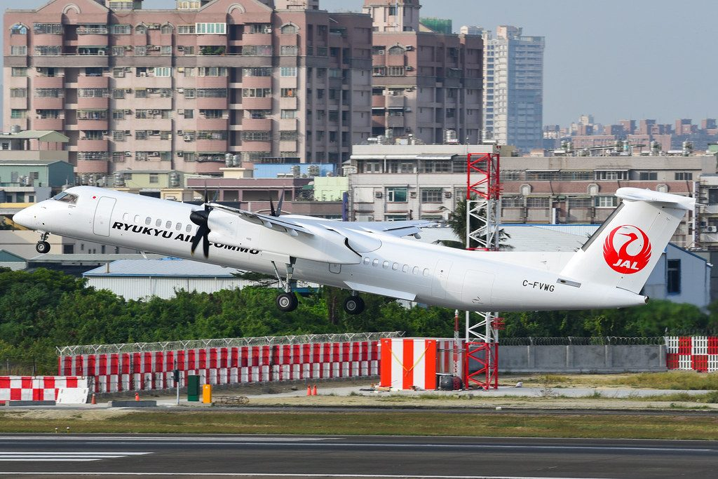 Ryukyu Air Commuter JA85RC De Havilland Canada DHC 8 402Q Dash 8 Combi