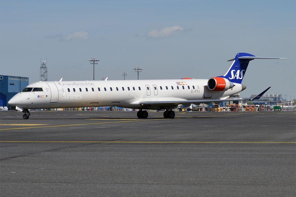 SAS EI FPJ Bombardier CRJ 900LR Jare Viking at Tallinn Airport