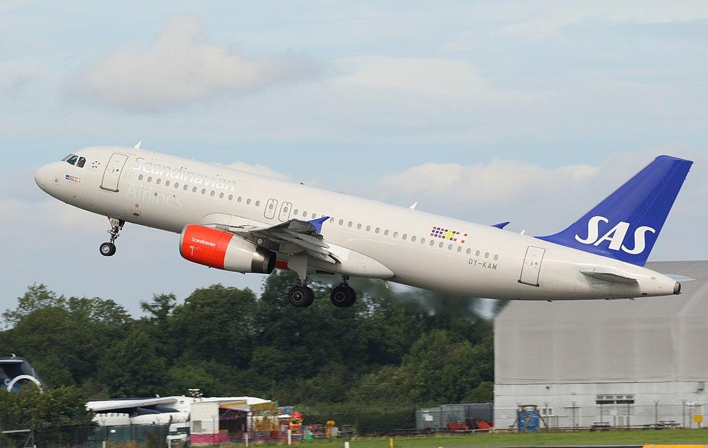 SAS Scandinavian Airlines Airbus A320 232 OY KAM Randver Viking at Manchester Airport