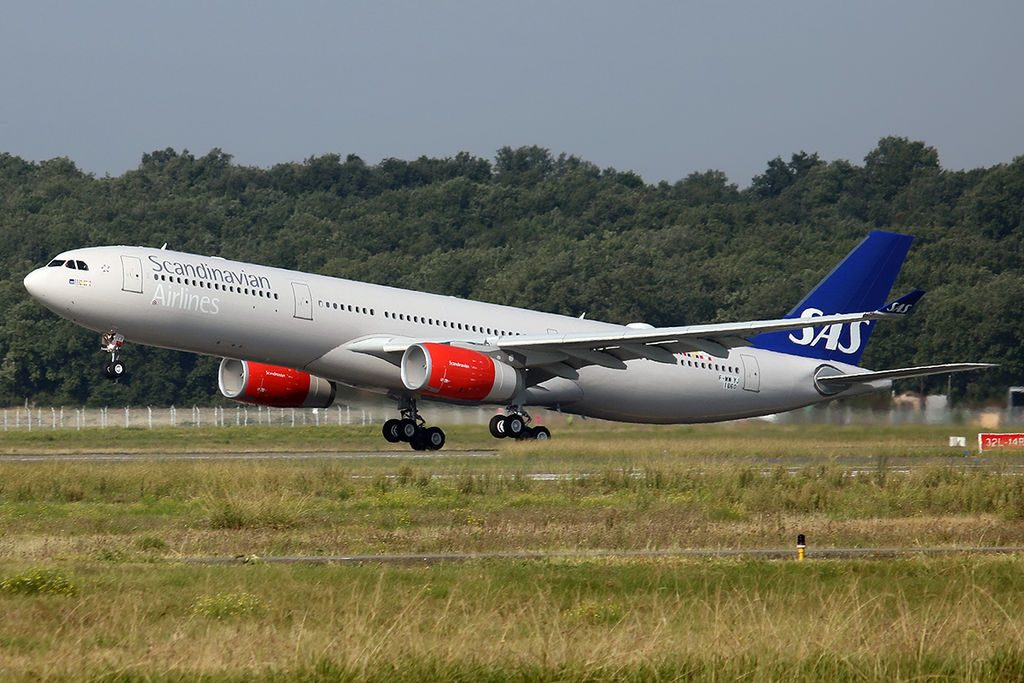 SAS Scandinavian Airlines Airbus A330 343 F WWIJ LN RKR at Toulouse Blagnac International Airport