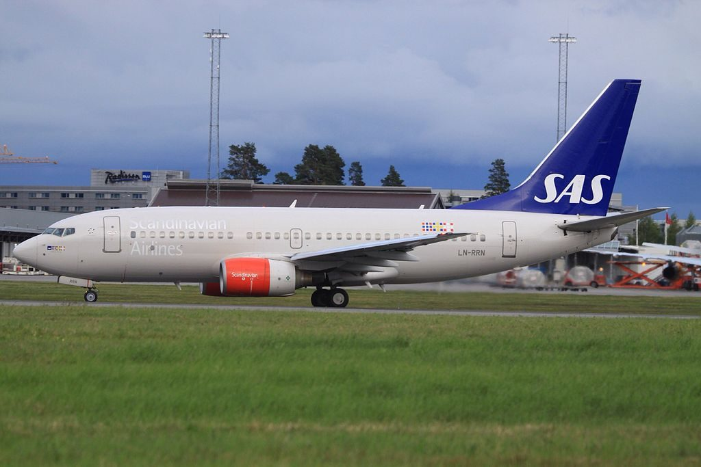 SAS Scandinavian Airlines Boeing 737 783 LN RRN Solveig Viking at Oslo Airport Gardermoen