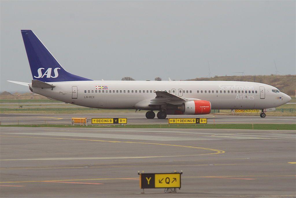 SAS Scandinavian Airlines Boeing 737 883 LN RCX Höttur Viking at Copenhagen Airport