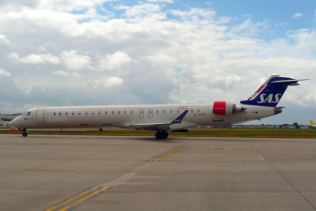 SAS Scandinavian Airlines Bombardier CRJ 900ER CL 600 2D24 EI FPD Cityjet Asker Viking at London Heathrow Airport