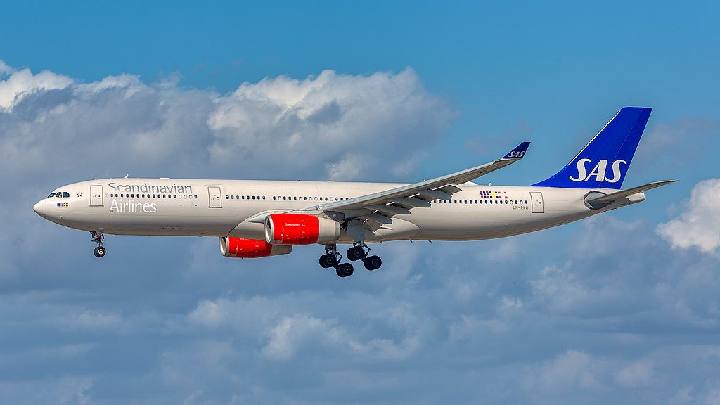 SAS Scandinavian Airlines LN RKU Airbus A330 343 Helge Viking at LAX Airport
