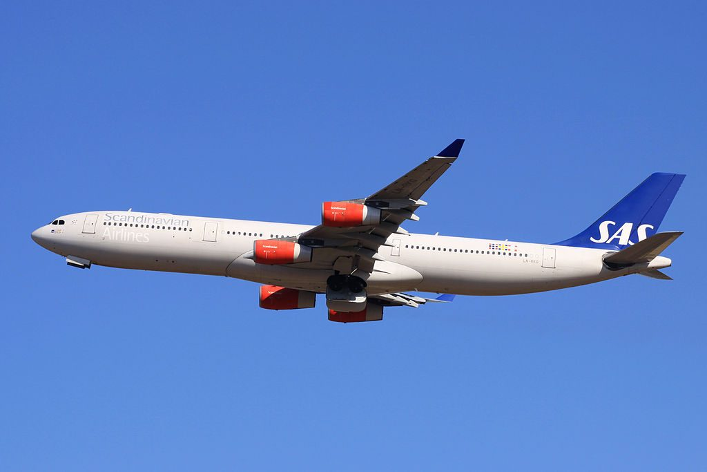 Scandinavian Airlines SAS LN RKG Airbus A340 313 Gudrod Viking at Narita International Airport