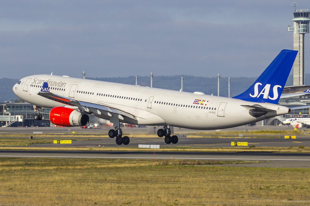 Scandinavian Airlines SAS LN RKO Airbus A330 343 Sigrid Viking at Oslo