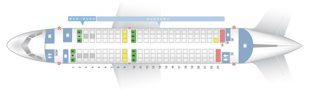 Seat Map and Seating Chart Airbus A319 100 Finnair