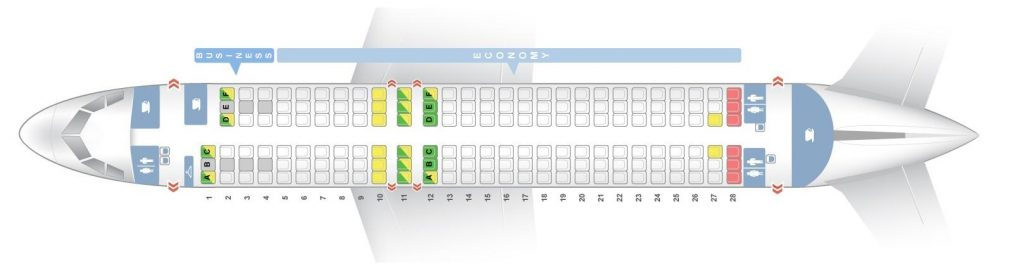 Seat Map and Seating Chart Airbus A320 200 Finnair