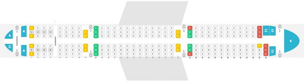 Seat Map and Seating Chart Airbus A321 200 V1 Finnair