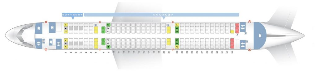 Seat Map and Seating Chart Airbus A321 200 V2 Finnair