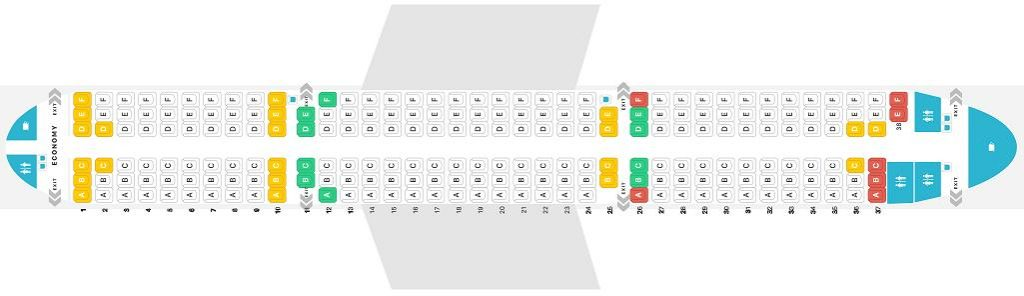 Seat Map and Seating Chart Airbus A321 200 V2 Jet2