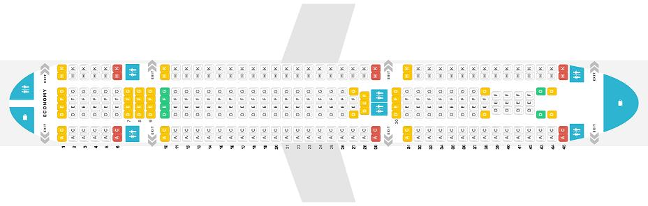 Seat Map and Seating Chart Airbus A330 200 Jet2