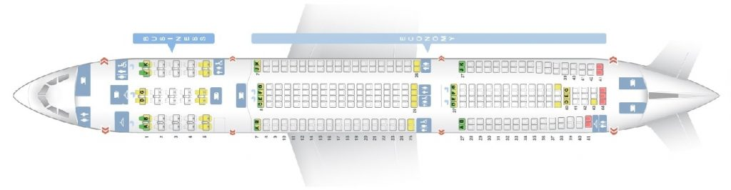 Seat Map and Seating Chart Airbus A330 300 Long Haul Layout China Airlines