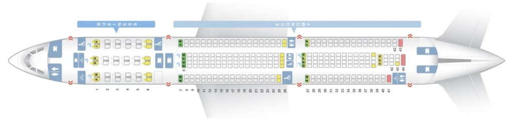 Seat Map and Seating Chart Airbus A330 300 Short Haul Layout China Airlines