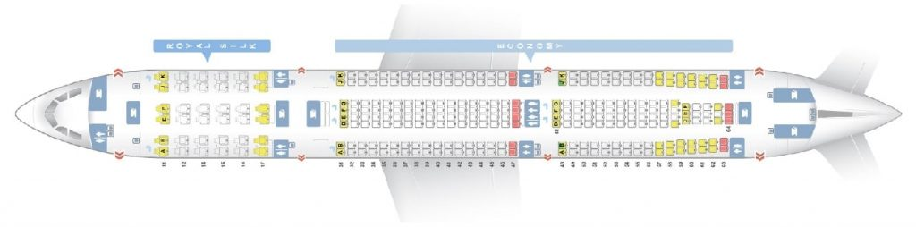 Seat Map and Seating Chart Airbus A330 300 Thai Airways 330 33H