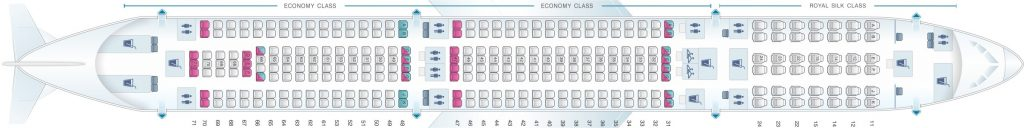 Seat Map and Seating Chart Airbus A330 300 Thai Airways 33R