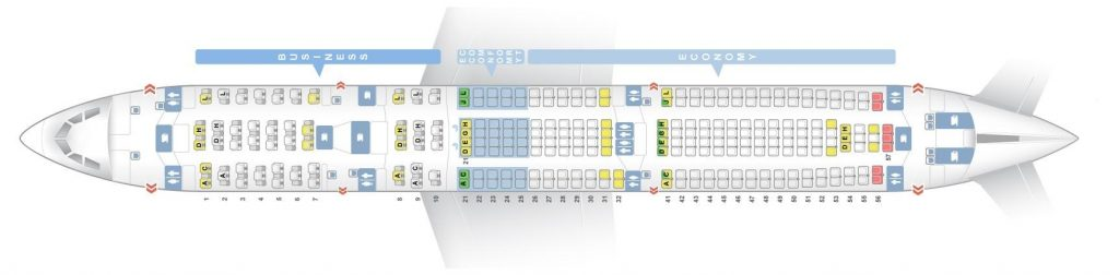 Seat Map and Seating Chart Airbus A330 300 V1 Finnair