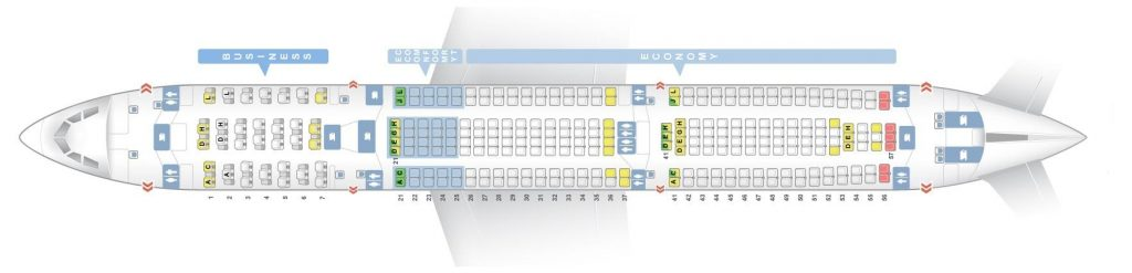 Seat Map and Seating Chart Airbus A330 300 V2 Finnair