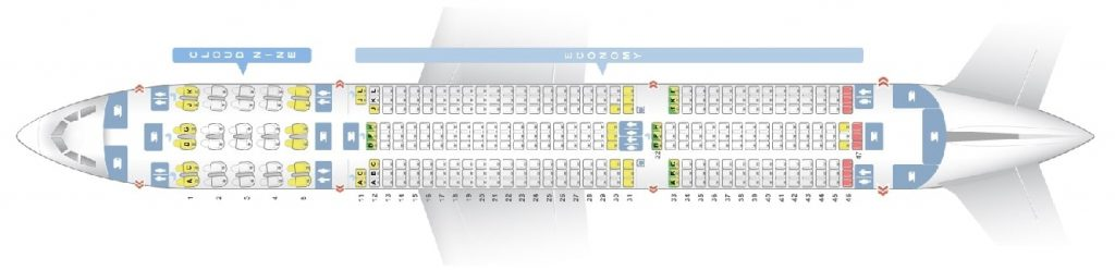 Seat Map and Seating Chart Airbus A350 900 Ethiopian Airlines